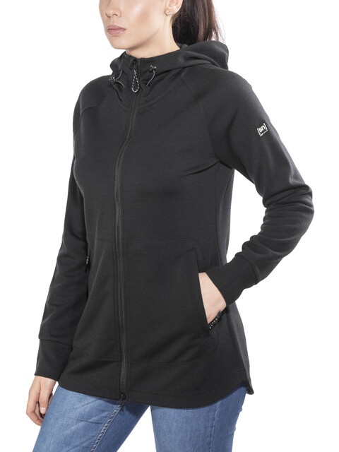 super.natural Relax Zip Hoodie Women Jet Black